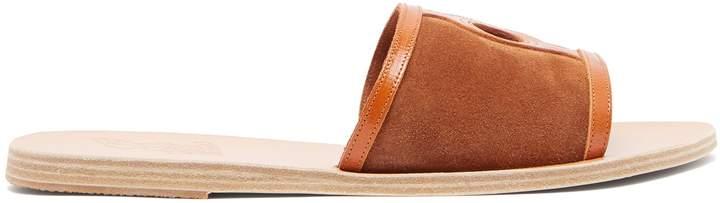 Ancient Greek Sandals Ilia suede slides