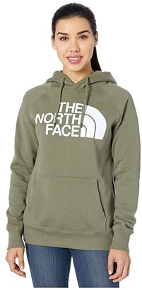 The North Face Half Dome Pullover Hoodie (Burnt Olive Green) Women's Sweatshirt