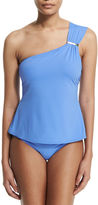 MICHAEL Michael Kors Watchband-Strap One-Shoulder Tankini Swim Top