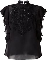 Manoush embroidered sheer blouse