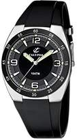 Calypso Men's Quartz Watch with Black Dial Analogue Display and Black Plastic Strap K6044/2