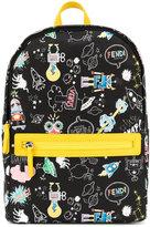 Fendi comic graphic print backpack - kids - Nylon - One Size