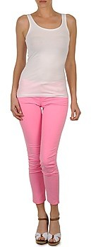 Teddy Smith PEPS HW 7/8 COL women's Cropped trousers in Pink