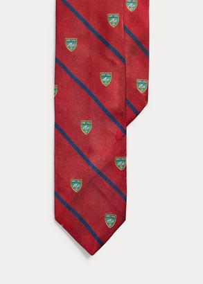Ralph Lauren Striped Silk Narrow Club Tie