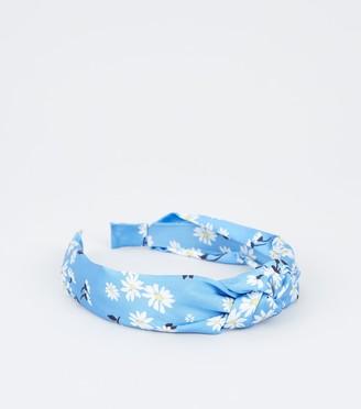 New Look Girls Daisy Print Knot Headband