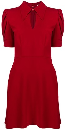 Stella McCartney Collared Cut-Out Dress
