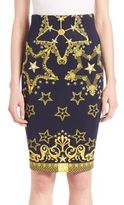 Versace Printed Neoprene Pencil Skirt