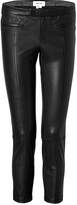 Helmut Lang Leather Cropped Stovepipe Pants