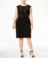 INC International Concepts Plus Size Mesh-Inset Sheath Dress, Only at Macy's