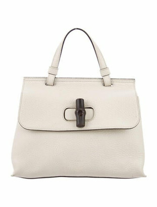 Gucci Small Bamboo Daily Top Handle Bag silver