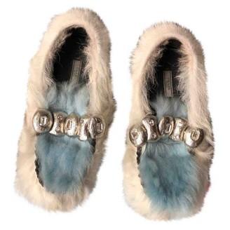 Prada Multicolour Faux fur Flats
