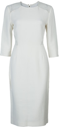 Jason Wu Cream Lace Detail Dress M