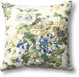French Laundry Home Floral 20x20 Cotton Pillow, Blue/Green