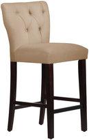 Skyline Furniture Tan Microsuede Tufted Hourglass Bar Stool