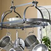 Enclume Double Dutch Crown Ceiling Pot Rack, Hammered Steel