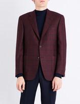 Canali Windowpane check cashmere jacket