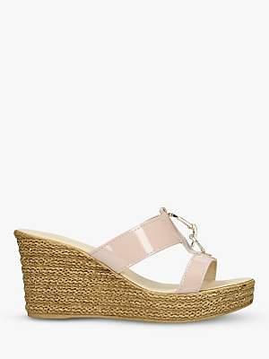 Carvela Comfort Stevie Wedge Heel Sandals, Nude Patent