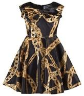 Moschino Kid-Teen Black Chain Print Dress