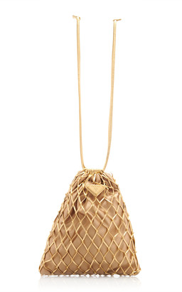 Prada Faux Leather Mesh Bag