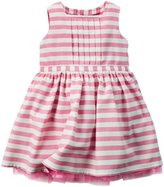 Carter's Striped Dress (Baby) - Pink/White-18 Months