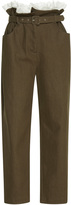 Isa Arfen Broderie Trimmed Paper Bag Trousers