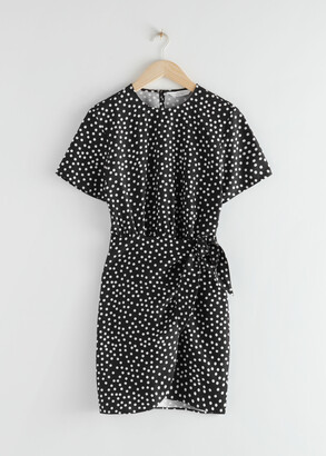 And other stories Tie Up Mini Wrap Dress
