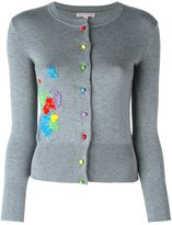 Olympia Le-Tan beaded paint splatter cardigan - women - Silk/PVC - S
