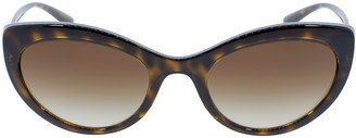 Dolce & Gabbana Havana Slim Cat Eye Sunglasses