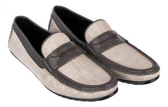 Dolce & Gabbana Beige Cotton Flats