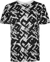 Antioch Black And White All Over Print T-shirt*