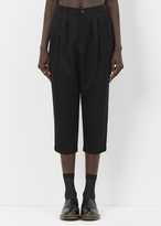Comme des Garcons black pleat front trouser