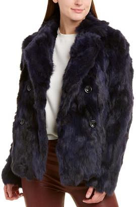 Adrienne Landau Textured Pea Coat