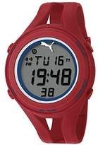 Puma Air Iii Unisex Digital Watch with LCD Dial Digital Display and Red PU Strap PU911171002