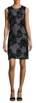 Karl Lagerfeld Embroidery Floral Novelty Shift Dress