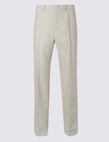 M&S Collection Linen Miracle Regular Fit Trousers