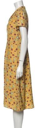 HVN Silk Midi Length Dress w/ Tags Orange