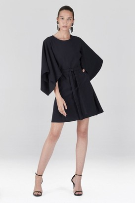 Natori Solid Crepe Handkerchief Shift Dress