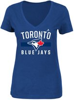 Majestic Toronto Blue Jays Ladies' One Game At A Time V-Neck Tee - XXL