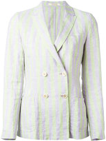 Massimo Alba double breasted blazer - women - Linen/Flax - S