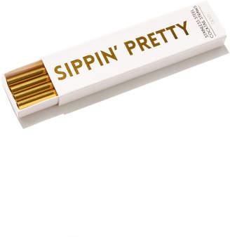 Santa Barbara Design Studio Sippin' Pretty Cocktail Straws Gold 1 Size