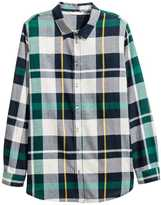 H&M Flannel Shirt - Natural white/checked - Ladies