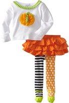 Mud Pie Baby-girls Pumpkin Skirt Set