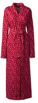 Classic Women's Cotton Robe-Bright Scarlet