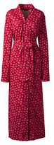 Lands' End Women's Cotton Robe-Bright Scarlet
