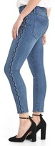 Gap Mid rise embroidered true skinny ankle jeans