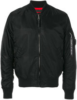 Marcelo Burlon County of Milan front zip bomber jacket