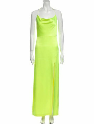Alice + Olivia Scoop Neck Long Dress Yellow