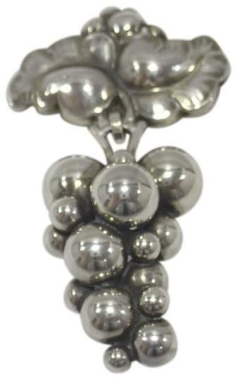 Georg Jensen 925 Sterling Silver Moonlight Grapes Brooch