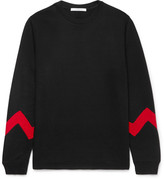 Givenchy Panelled Fleece-Back Cotton-Blend Jersey Sweatshirt