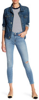7 For All Mankind Gwenevere Distressed Skinny Ankle Jean